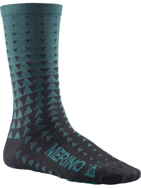 Mavic Ksyrium Merino Graphic Socks majolica blue